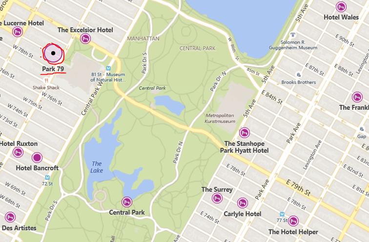 Karte Park 79